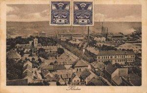 KLADNO CZECH REPUBLIC~INDUSTRIAL MANUFACTURE BUILDINGS ~1924 PHOTO POSTCARD