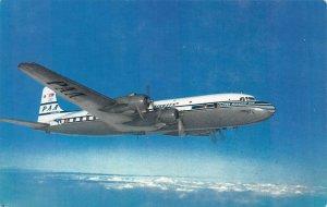Pan American World Airways, Super-6 Clipper, Circa 1940's Postcard, Unused