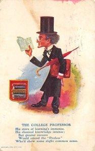 The College Professor Cartoon Occupation, Teacher 1906
