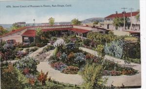 California San Diego Inner Court Of Ramona's Home Curteich