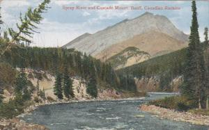 BANFF, Alberta, Canada, 1900-1910´s; Spray River and Cascade Mount