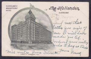 Cleveland, OH The Hollenden, Cleveland's Magnificent Hotel c 1908