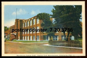 3736 - VICTORIAVILLE Quebec Postcard 1930s Fashion Craft Factory by PECO
