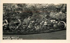 Greater Flower Show 1940s Seattle Washington RPPC real photo postcard 5968
