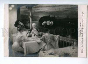246554 TABARY Meudon FISHING Lady RESTAURANT Vintage SALON Rus