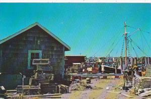Rhode Island Lobster Traps and Fishing Dragger