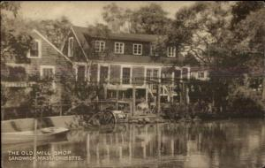 Sandwich Cape Cod MA The Old Mill Shop Postcard