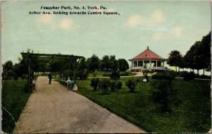 York Pennsylvania~Farquhar Park~Arbor Avenue~Center Square Band Stand~1913