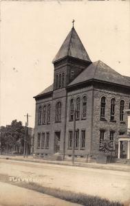 E77/ Bellaire Ohio RPPC Postcard Belmont County 1910 St Johns Church