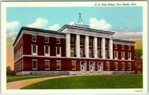 Fort Smith, Arkansas Postcard U.S. Post Office Building Curteich Linen