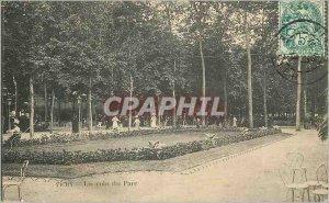 Postcard Old Vichy A Corner Park