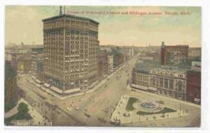 Corner of Woodward Avenue and Michigan Avenue, Detroit,  Michigan, PU-00-10s