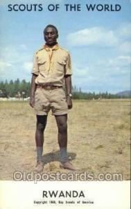 Rwanda Boy Scouts of America, Scouting Postcard, Post Cards, Copyright 1968  ...