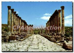 Postcard Modern Jerash The Way Of The Columms