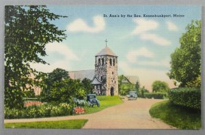 St. Ann's By The Sea, Kennebunkport ME Linen Postcard (#7257)