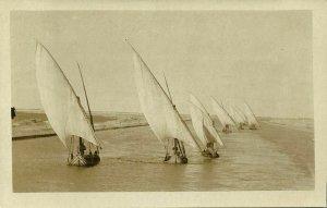 ceylon, COLOMBO, Sailing Boats (1910s) RPPC Postcard
