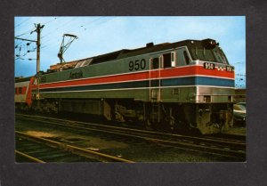 PA Amtrak Railroad Train Locomotive 950 Philadelphia Pennsylvania Postcard