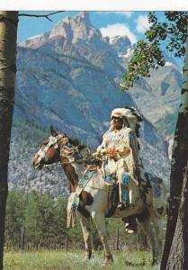 Indian on horse, Canada , 50-70s