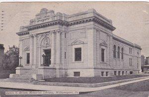 WILLIAMSPORT, Pennsylvania; James V. Brown Memorial Library,  PU-1911