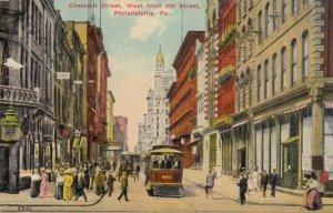 PHILADELPHIA , Pa. , 1912 ; Chestnut Street , West from 8th Street