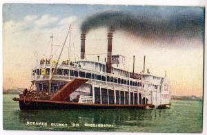 Steamer Quincy on Mississippi