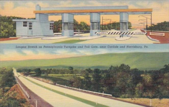Pennsylvania Turnpike Toll Gate Near Carlisle and Harrisburg Curteich