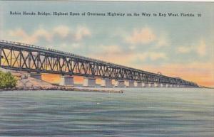 Florida Keys Bahia Honda Bridge Highest Span Of Overseas Highway On Way To Ke...