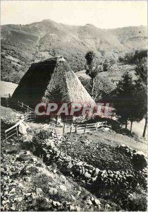 Modern Postcard Auvergne in the Cantal Lead An old Buron