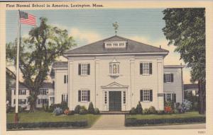 LEXINGTON, Massachusetts, 1930-1940's; First Normal School In America