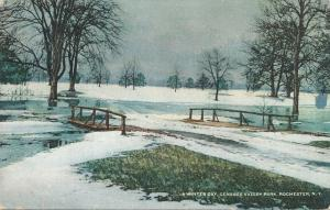 Winter Day at Genesee Valley Park, Rochester, New York - pm 1912 - DB