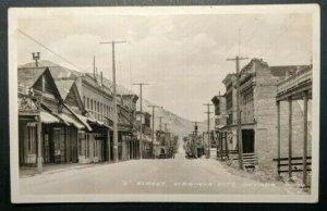 Mint Vintage Virginia City Street Nevada Real Photo Postcard RPPC