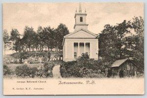 Jeffersonville NY~Cemetery~Barn w/Ladder Below German Reformed Church~c1905 UDB