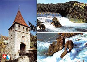Switzerland Rheinfall mit Schloss Laufen Schloess Laufen Bridge Castle