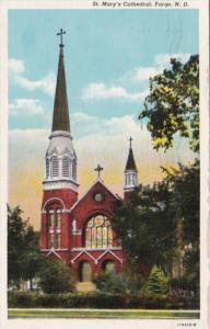 North Dakota Fargo St Mary's Cathedral 1944 Curteich