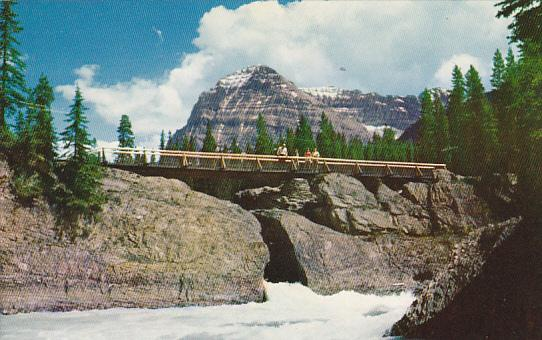 Canada Natural Bridge and Mount Stephen Yoho National Park Alberta