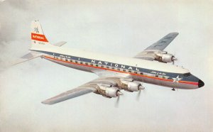 National Airlines Star Airplane, early postcard, unused