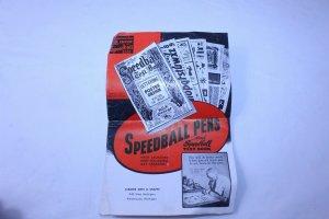 Vintage Advertising Pamphlet / Price List for Speedball Pens Form 300