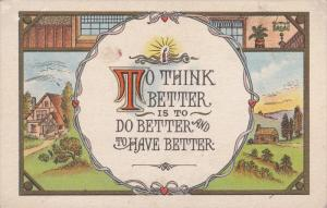 To think better is to do better and to have better, Country Scene, Lit Cand...
