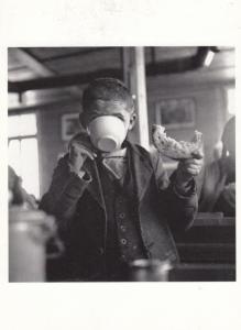 Swiss Child Eating Loaf Of Bread in War WW2 Switzerland Award Photo Postcard