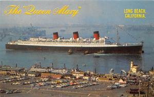 White Star Line Cunard Ship Post Card, Old Vintage Antique Postcard Queen Mar...