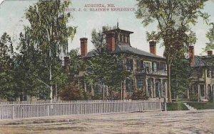 Maine Augusta Hon J G Blaines Residence