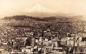 Portland Oregon Birds Eye View~Jenning-Holmes-Hotel Carlton-Coca Cola~1930s RPPC