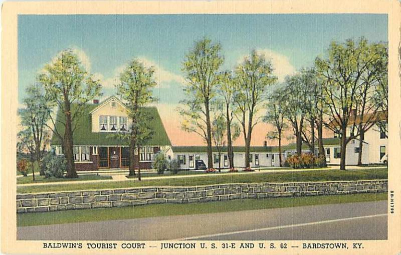 Baldwin Tourist Court Bardstown Kentucky KY Linen