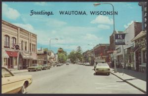 Greetings From Wautoma,WI Postcard
