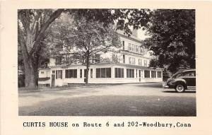 E5/ Woodbury Connecticut Real Photo RPPC Postcard c1940s Curtis House Route 6