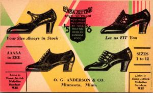 Advertising Enna Jettick Shoes For Women O G Anderson & Company Minneota Minn...