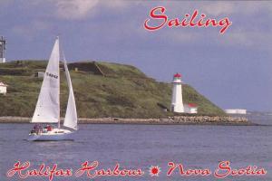 Sailboat, Lighthouse, Sailing, A Great Nova Scotia Pastime, Halifax Harbour, ...
