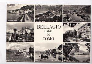 BELLAGIO, LAGO DI COMO, 1961 used real photo, vera fotografia, Postcard