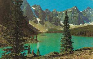 Canadian Moraine Lake Between Banff and Jasper Alberta