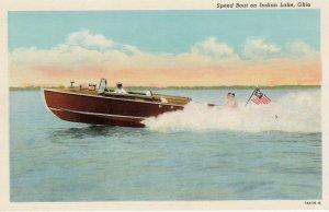 Speed Boat on INDIAN LAKE , Ohio , 1910s